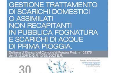Meeting Ferrara – Gestione Trattamento di Scarichi Domestici
